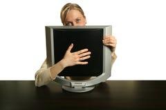 Meu computador novo Fotografia de Stock Royalty Free
