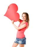 Meu coração grande. Foto de Stock