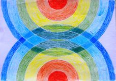 Meu desenho de círculos coloridos ilustração do vetor
