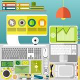Meu desktop, negócio, escritório Imagem de Stock Royalty Free