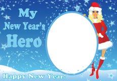 Meu herói de ano novo Imagens de Stock Royalty Free