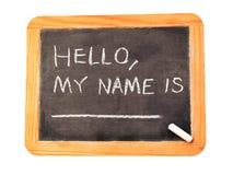 Meu nome é. Fotos de Stock