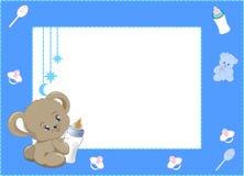 Meu primeiro azul do quadro da foto Imagens de Stock Royalty Free