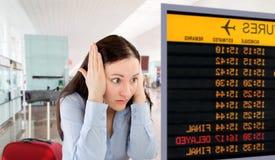 Meu voo é cancelado Fotografia de Stock