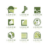 Meubilair Logo Set Stock Afbeeldingen