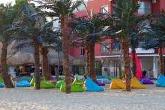 Meubilair op het strand Royalty-vrije Stock Afbeeldingen
