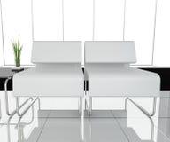 Meubilair op wit kantoor Stock Fotografie
