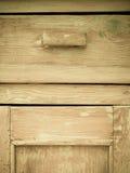 Meubilairdeel Close-up van houten keukenkast Royalty-vrije Stock Foto