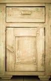 Meubilairdeel Close-up van houten keukenkast Royalty-vrije Stock Afbeeldingen