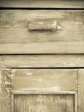 Meubilairdeel Close-up van houten keukenkast Royalty-vrije Stock Afbeelding