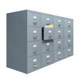 Meuble d'archivage avec le tiroir ouvert photographie stock