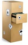 Meuble d'archivage enveloppé vers le haut en papier brun Image stock