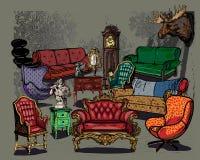 Meubles antiques illustration stock