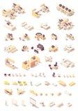 Meubles de bureau isométriques de vecteur illustration stock