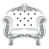Meubles de luxe baroques de fauteuil de style Images stock
