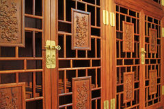 Meubles de séquoia, style d'art de chinois traditionnel Photographie stock
