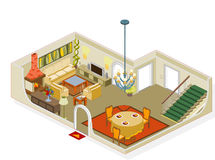 Meubles de salle de séjour Image stock