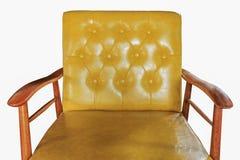 Meubles en cuir de sofa d'isolement Photographie stock libre de droits