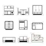 Meubles et graphismes de fourniture Image stock