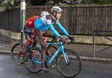 The Cyclist Mikael Cherel - Paris-Nice 2018 stock photo