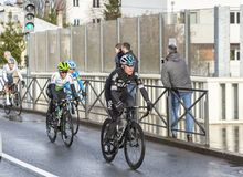 Group of Cyclists - Paris-Nice 2018 royalty free stock photography