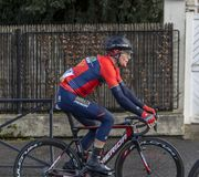 The Cyclist Luka Pibernik - Paris-Nice 2018 royalty free stock images