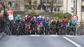 The Peloton - Paris-Nice 2018 stock image