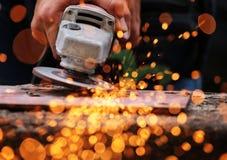 Meulage électrique de roue Image libre de droits