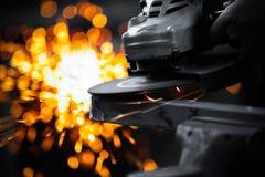 Meulage électrique de roue Images stock