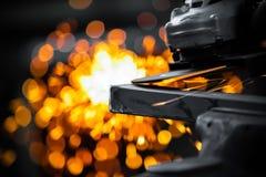 Meulage électrique de roue Images libres de droits