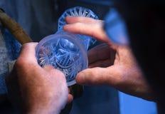 Meulage en verre Photo stock