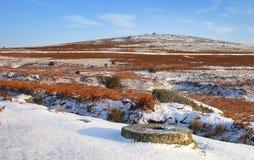 Meule dans la neige Photographie stock libre de droits