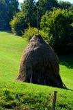 Meule de foin dans le village Rosia Montana - vieille mine d'or romaine Rosia Montana, la Transylvanie Photo libre de droits