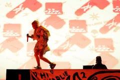 Meurent la bande d'éloge de coup sec et dur d'Antwoord exécute au festival de sonar Photo libre de droits