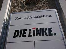 Meurent les sièges sociaux de partie de Linke à Berlin images libres de droits