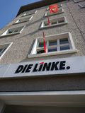 Meurent les sièges sociaux de partie de Linke à Berlin photo libre de droits