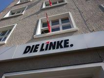 Meurent les sièges sociaux de partie de Linke à Berlin photographie stock