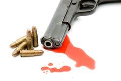 meurtre de canon de concept de sang photographie stock libre de droits
