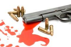 meurtre de canon de concept de sang image stock