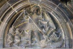 Meurtre de St Michael le dragon photographie stock