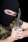meurtrier de couteau Photos libres de droits