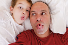 Meus Dady e mim Fotos de Stock