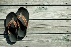 Meus flip-flops Fotos de Stock