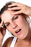 Meus Hurts da cabeça Imagens de Stock