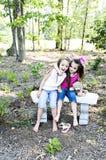 Meus irmã, urso e mim fotos de stock royalty free