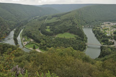 Meuse bends at laifour, ardennes Royalty Free Stock Photography