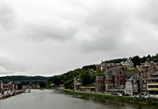 Meuse River in Dinant Stock Photo