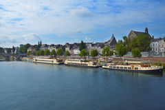 Meuse river in Maastricht, Netherlands Stock Image