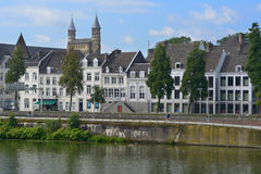 Meuse river in Maastricht, Netherlands Stock Photography