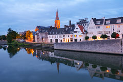 Meuse river in Maastricht, Netherlands Royalty Free Stock Image
